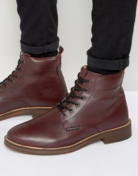 Ben Sherman Aine Lace Up Boots Red