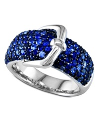 Effy Collection Balissima By Effy Sapphire Buckle Ring 3 Ct. T.W. In Sterling Silver