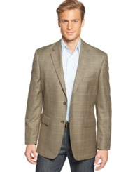 Club Room Brown Houndstooth Windowpane Sport Coat