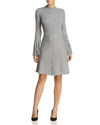 Design History Bell Sleeve Knit Dress Flannel Heather