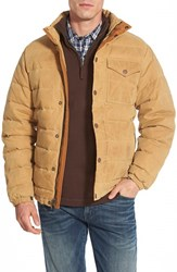 Timberland Men's 'Mount Davis' Water Resistant Waxed Canvas Down Jacket Medal Bronze