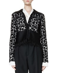 Lanvin Long Sleeve Lace Jacket Black Women's