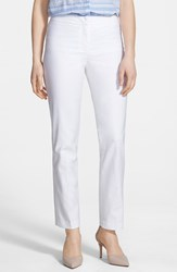 Petite Women's Nic Zoe 'The Perfect' Ankle Pants Paper White