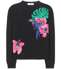 Valentino Knitted Cashmere Sweater Black