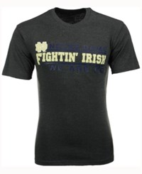 Colosseum Men's Notre Dame Fighting Irish Verbiage Stack T Shirt Charcoal