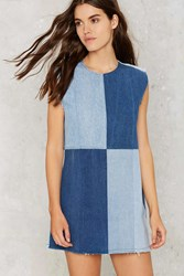 Nasty Gal After Party Vintage Patch My Drift Denim Dress