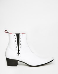 Jeffery West Chelsea Boots White