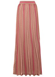 M Missoni Bronze Fine Knit Maxi Skirt