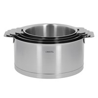 Cristel Strate Saucepan And Glass Lid Set 4 Piece