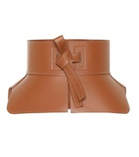 Loewe Leather Corset Belt Brown