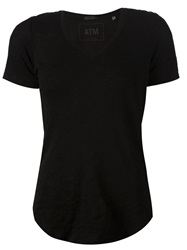 Atm V Neck T Shirt Black