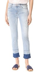 Hudson Zoeey Mid Rise Cropped Jeans Side Hustle
