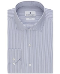 Ryan Seacrest Distinction Non Iron Slim Fit Blue Stripe Dress Shirt