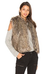 Joie Pruce Faux Fur Vest Brown