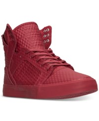 Supra Men's Skytop High Top Casual Sneakers From Finish Line Red Red 3D Embossed