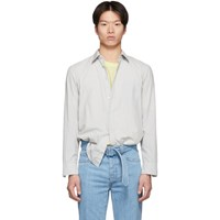Maison Martin Margiela Grey Garment Dyed Slim Shirt