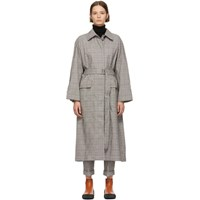 3.1 Phillip Lim Black And White Oversized Long Trench Coat