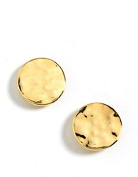 Kenneth Cole Hammered Circle Stud Earrings Gold