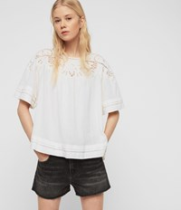 Allsaints Lise Top Chalk White