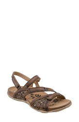 Earthr Women's Earth Maui Strappy Sandal Sand Brown Soft Leather