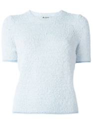 Dondup Woolly V Neck Sweater Blue