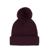 River Island Mens Dark Red Bobble Fisherman Beanie