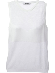 Moschino Cheap And Chic Crew Neck Vest White