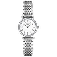 Longines L42410116 Women's La Grande Classique Diamond Bracelet Strap Watch Silver White