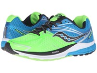 Saucony Ride 9 Slime Blue Black Men's Running Shoes Green