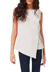 Miss Selfridge Wrap Tunic Top Grey