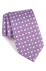Vineyard Vines Men's 'Tee Time' Print Silk Tie Purple