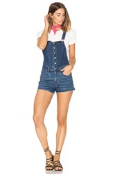 Rag And Bone Lou Short Overall Bluebird