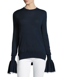 Adam By Adam Lippes Knit Bell Cuff Sweater Multi