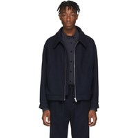 Second Layer Navy Barras Jacket
