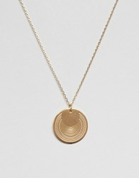 Pieces Disc Pendant Necklace Gold
