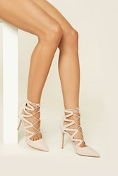 Forever 21 Strappy Lace Up Stilettos