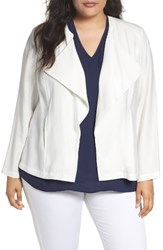 Sejour Plus Size Women's Drape Front Jacket