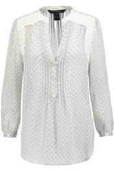 Marc By Marc Jacobs Damara Printed Silk Chiffon Blouse White