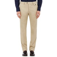Michael Bastian Twill Cuffed Trousers Beige Tan