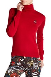 Love Moschino Turtleneck Logo Sweater Red