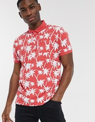 Tom Tailor Printed Polo Shirt Red