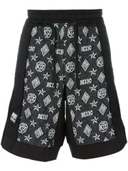 Ktz Monogram Inside Out Shorts Black