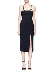 Dion Lee Coil Laced Elastic Cord Bustier Dress Black