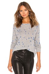 Autumn Cashmere Star Print Sweater Gray