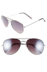 Topman 59Mm Aviator Sunglasses Silver