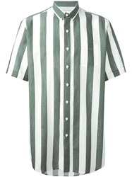 Ami Alexandre Mattiussi Striped Short Sleeve Shirt