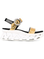 Marc By Marc Jacobs 'Ninja Strass' Wave Sandals Metallic