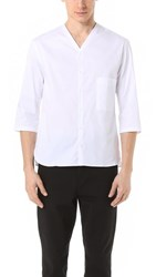 Christophe Lemaire V Neck Shirt White