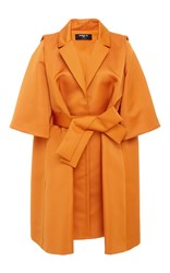 Paule Ka Ottoman Oversized Jacket With Self Belt Yellow