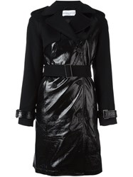 Wanda Nylon Vinyl Trench Coat Black